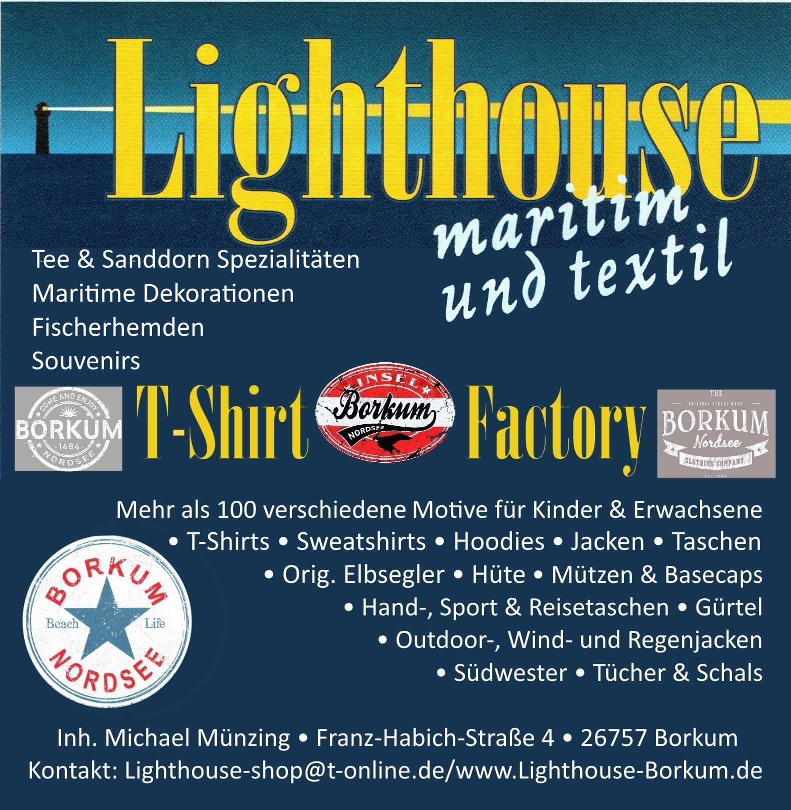 Inserat Lighthouse Shirt Factory
